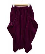COMME des GARCONS(コムデギャルソン)の古着「ベロアデザインスカート」|パープル