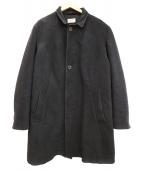NUDIE JEANS(ヌーディジーンズ)の古着「スタンドカラーコート」|チャコールグレー