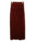 THE SHINZONE(ザ シンゾーン)の古着「ベロアタイトスカート」|ボルドー