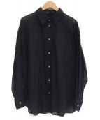 Spick and Span Noble(スピック&スパンノーブル)の古着「シースルーレギュラーシャツ」|ブラック