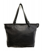 FRED PERRY(フレッドペリー)の古着「Leather Tote」 ブラック