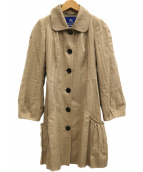 BURBERRY BLUE LABEL(バーバリーブルーレーベル)の古着「ステンカラーコート」 ベージュ