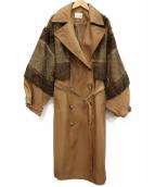 MURUA(ムルーア)の古着「ロングダブルトレンチコート」|ブラウン