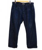BRU NA BOINNE(ブルーナボイン)の古着「ピーターパンツ」|ネイビー