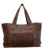 土屋鞄(ツチヤカバン)の古着「レザートートバッグ」|ブラウン
