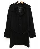 BURBERRY BLACK LABEL(バーバリーブラックレーベル)の古着「チェスターコート」|ブラック