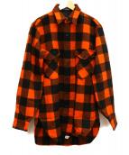 PENDLETON(ペンドルトン)の古着「70'sネルシャツ」|オレンジ×ブラック