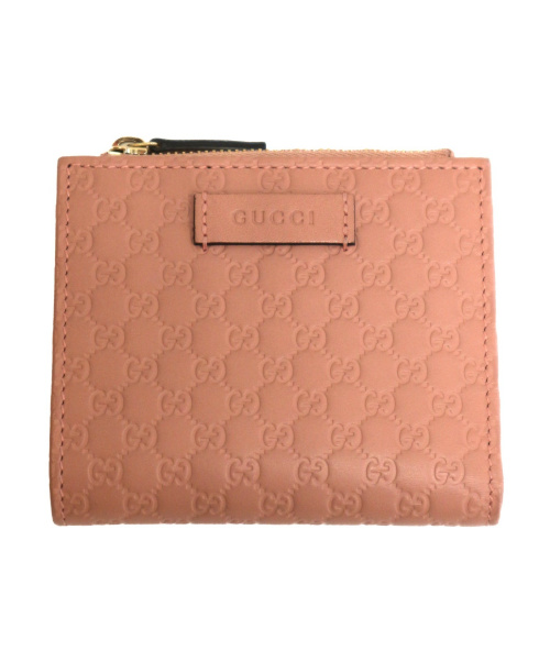 GUCCI(グッチ)GUCCI (グッチ) 2つ折り財布 ピンク 510318の古着・服飾アイテム