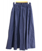 JOURNAL STANDARD(ジャーナルスタンダード)の古着「スパンナイロンマキシスカート」|ネイビー