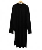 BLACK Scandal Yohji Yamamoto(ブラックスキャンダルヨージヤマモト)の古着「スカル柄ロングシャツ」 ブラック