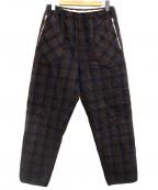 UMIT BENAN(ウミットベナン)の古着「チェックキルティングスウェットパンツ」|ネイビー