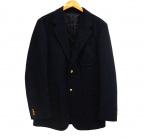 Scye(サイ)の古着「金釦ウールテーラードジャケット」|ネイビー