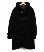 BURBERRY BLACK LABEL(バーバリーブラックレーベル)の古着「ロングダッフルコート」|ブラック
