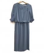 TONAL(トーナル)の古着「タックスリーブブラウジングドレス」 ブルー