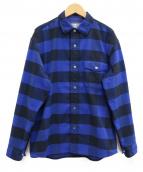 THE NORTH FACE(ザノースフェイス)の古着「ロングスリーブヌハッチシャツ」|ブルーブラック