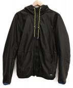DIESEL(ディーゼル)の古着「ラムレザーフーデッドジャケット」|ブラック