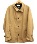BEAUTY&YOUTH(ビューティーアンドユース)の古着「ベンタイル ショート レイズドネックコート」|ベージュ