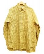 COSEI(コセイ)の古着「チェックシャツ」|イエロー