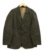 Needles sportswear(ニードルズスポーツウェア)の古着「ワックスコーティング3Bジャケット」 カーキ