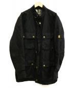 BELSTAFF(ベルスタッフ)の古着「リネン混ジャケット」|ブラック