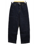 SLOBE IENA(イエナスローブ)の古着「デニムバギーパンツ」|インディゴ