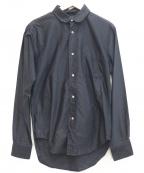 The FRANKLIN TAILORED(フランクリンテーラード)の古着「コットンシャツ」 ネイビー