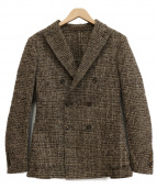 eleventy(イレブンティ)の古着「ツイードダブルジャケット」|ブラウン