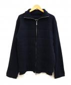 BURBERRY BLACK LABEL(バーバリーブラックレーベル)の古着「ニットジャケット」|ネイビー