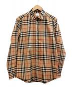 BURBERRY(バーバリー)の古着「ヴィンテージチェックシャツ」|ベージュ
