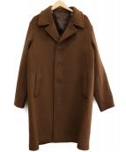 TAKEO KIKUCHI(タケオキクチ)の古着「ウールカシミヤチェスターコート」|ブラウン