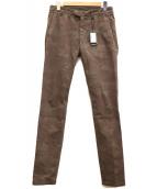 eleventy(イレブンティ)の古着「ウォッシュドコットンツイルカモフラテーパードチノ」 ブラウン