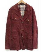 ARTISAN(アルティザン)の古着「ゴートスキンジャケット」|レッド