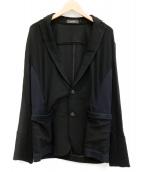 ARTISAN(アルチザン)の古着「ジャージー2Bジャケット」|ブラック