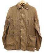 POST OALLS(ポストオーバーオールズ)の古着「コットンカバーオール」 ブラウン