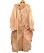 maturely(マチュアリー)の古着「Camo Cape Coat」|ピンク