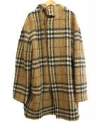 BURBERRY LONDON(バーバリーロンドン)の古着「ノヴァチェックウールジップフーデットコート」|ベージュ