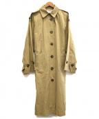 BLACK by moussy(ブラックバイマウジー)の古着「ドルマンエポーレットジャケット」 ベージュ