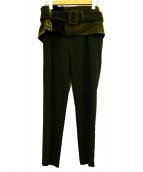 Ameri VINTAGE(アメリビンテージ)の古着「MIXTURE CORSET PANTS」|カーキ