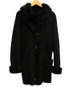 OWEN BARRY(オーエンバリー)の古着「ムートンコート」|ブラック