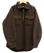 THE NORTH FACE(ザノースフェイス)の古着「[古着]90sボアフリースハーフジッププルオーバー」|ブラウン