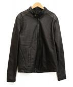 GIORGIO BRATO(ジョルジオブラット)の古着「レザーライダースジャケット」|ブラック
