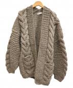 AUDREY AND JOHN WAD(オードリーアンドジョンワッド)の古着「手編みペルーニットビッグシルエットカーディガン」|ベージュ