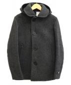 ORCIVAL(オーチバル)の古着「メルトンシングルPコート」|グレー