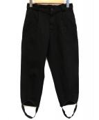 COMME des GARCONS COMME des GARCONS(コムデギャルソン コムデギャルソン)の古着「製品染めポリ縮絨パンツ」|ブラック