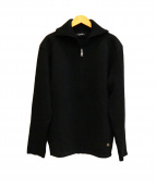BURBERRY BLACK LABEL(バーバリーブラックレーベル)の古着「裏地ノヴァチェックニットジャケット」|ブラック