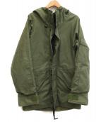 ALPHA INDUSTRES(アルファ インダストリーズ)の古着「[古着]90sミリタリーフーデッドジャケット」|カーキ
