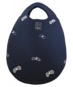 mina perhonen(ミナペルホネン)の古着「chouchoエッグバッグ」 ネイビー