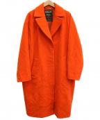 JOURNAL STANDARD Lessage(ジャーナルスタンダード レサージュ)の古着「ロングチェスターコート」|オレンジ