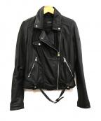 ZARA(ザラ)の古着「ラムレザーライダースジャケット」|ブラック
