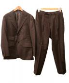 THE SUIT COMPANY(ザスーツカンパニ)の古着「2Bセットアップスーツ」|ブラウン